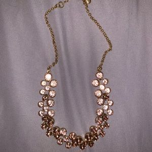 Blush pink gem necklace